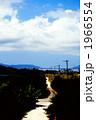 田舎道 一本道 道の写真 1966554