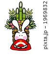 元旦 門松 正月飾りのイラスト 1969832