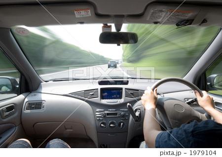 運転席 ドライブ 運転の写真素材...