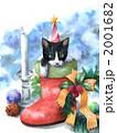 クリスマス 猫 動物のイラスト 2001682