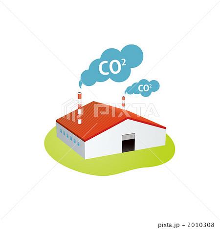 大気汚染をする工場のイラストのイラスト素材 2010308 Pixta