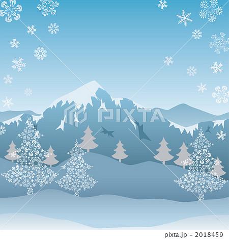 雪山のイラスト素材 2018459 Pixta