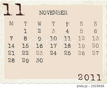2011年カレンダー 11月のイラスト素材 2028686 Pixta