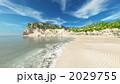 風景 砂浜 波打ち際のイラスト 2029755