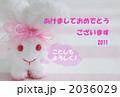 ウサギ年年賀状 2036029