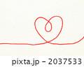 赤い毛糸(ハート拡大) 2037533