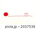 赤い毛糸(毛糸玉ハート右端波) 2037536