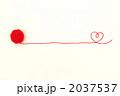 赤い毛糸(毛糸玉右ハート) 2037537