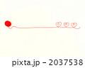 赤い毛糸(ハート3つ) 2037538