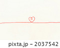 赤い毛糸(中央ハート) 2037542