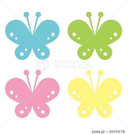 イラスト お正月 イラスト 簡単 : 蝶のイラスト素材 [2045078] - PIXTA
