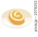 おやつ ロールケーキ オヤツのイラスト 2078202