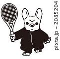 フレンチブルドッグ ペット テニスのイラスト 2085204