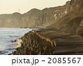 銚子屏風ヶ浦の海蝕崖の夕景 2085567