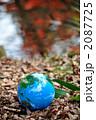 紅葉の水面と地球b 2087725