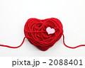 赤い毛糸のハート 2088401