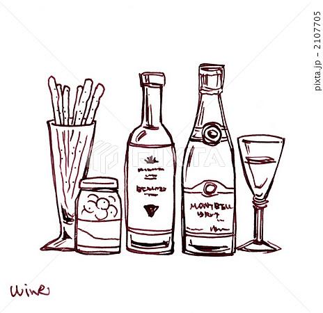 ワインとグリッシーニ ペン画 ... : ベビー用品 無料 : 無料