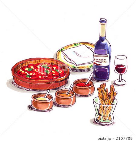 イタリア料理トマト カラー のイラスト素材 2107709 Pixta