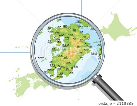 九州 の写真・イラスト素材 1 ... : 日本列島 地図 フリー : 日本