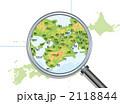 マップ 地勢図 近畿のイラスト 2118844