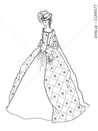 ウエディング ドレス 塗り絵