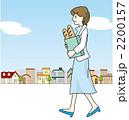 人物 女性 ショッピングのイラスト 2200157