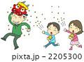 節分 豆まき 親子のイラスト 2205300