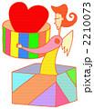 プレゼント 女性 人物のイラスト 2210073