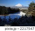 雪景色 風景 富士山の写真 2217547
