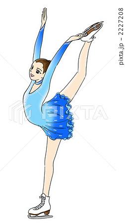 フィギュアスケートのイラスト素材 2227208 Pixta