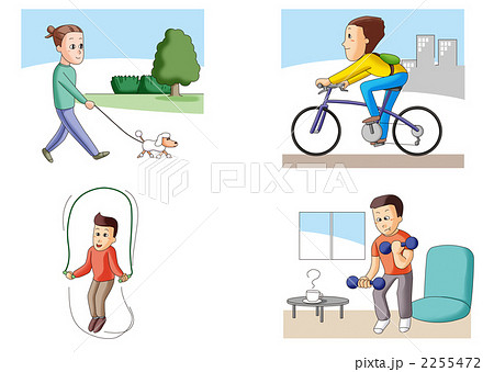 毎日の適度な運動2のイラスト素...