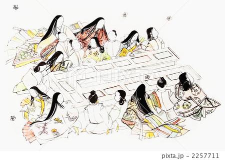 平安時代の授業 和のイメージのイラスト素材 2257711 Pixta