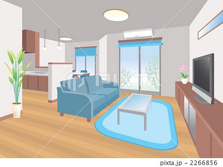 リビングルームのイラスト素材 2266856 Pixta