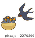 ツバメ 巣 親子のイラスト 2270899