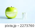歯科イメージ 青リンゴの笑顔と歯 2273760