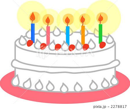 誕生日ケーキのイラスト素材 2278817 Pixta