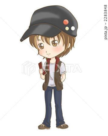 2283848. 男の子 人物 帽子のイラスト