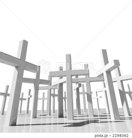 イラスト素材: 多数の十字架
