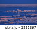 夕日に染まる流氷 2332897