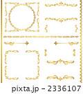 線 枠 飾り罫のイラスト 2336107
