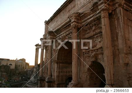 写真素材: フォロ・ロマーノのセプティミウス・セウェルスの凱旋門