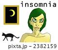 睡眠不足 不眠症 睡眠障害のイラスト 2382159