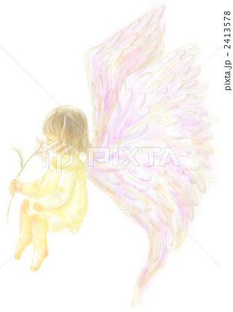 エンジェル 天使 羽根のイラスト素材 2413578 Pixta