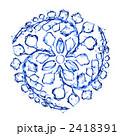 青いインクの家紋 2418391