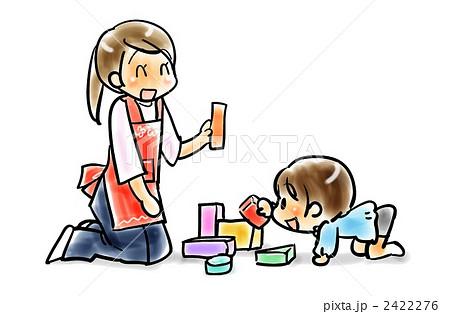 幼児 幼児 積み木 : ... 素材: 園児と先生、積み木遊び