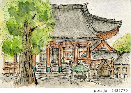 東京池上本門寺 趣味の水彩画 2425770