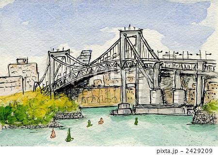 レインボーブリッジ 水彩画 2429209