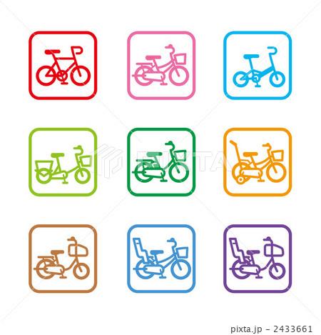 自転車の 自転車 素材 イラスト : 自転車アイコンのイラスト素材 ...