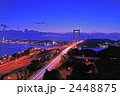 関門橋 高速道路 夜景の写真 2448875