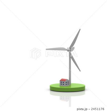 クリーンエネルギー 風力発電機 風力発電のイラスト素材 2451176 Pixta